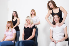 Coach and support group during psychological. Therapy Royalty Free Stock Photography