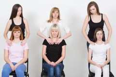 Coach and support group during psychological. Therapy Stock Photos