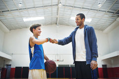 Coach Team Athlete Basketball Bounce Sport Concept Royalty Free Stock Photography