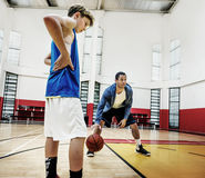 Coach Team Athlete Basketball Bounce Sport Concept Stock Photography