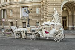 Coach transport carriage with horses royalty free stock photos