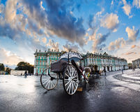 The coach for walks on the Palace Square in St. Petersburg, Russ Royalty Free Stock Image
