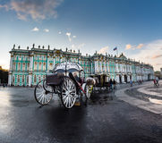 The coach for walks on the Palace Square in St. Petersburg, Russ Stock Image