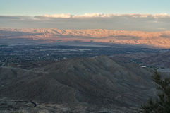 Coachella Valley at Sunset Royalty Free Stock Image