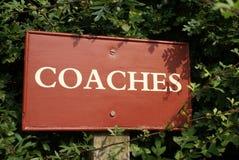 Coaches sign royalty free stock photos