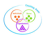 Coaching Areas Diagram royalty free illustration
