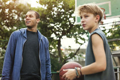 Coaching Basketball Sport Athlete Exercise Game Concept Royalty Free Stock Photography