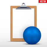 Coaching blank clipboard Stock Photography