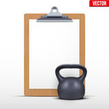 Coaching blank clipboard Stock Image