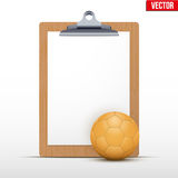 Coaching blank clipboard Royalty Free Stock Photography