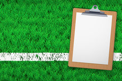 Coaching blank clipboard Stock Photo
