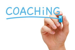 Coaching Blue Marker Stock Photos
