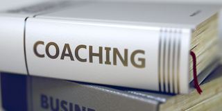 Coaching - Book Title. 3D Render. Stock Images