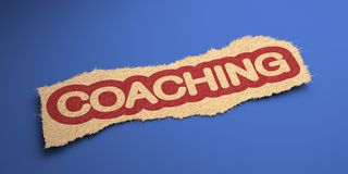 Coaching. Business Concept. Stock Image