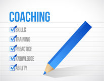 Coaching check mark list illustration design Stock Photo