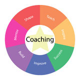 Coaching circular concept with colors and star vector illustration