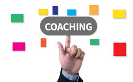 COACHING   (Coaching Guide Instructor Leader) Royalty Free Stock Photos