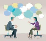 Coaching Communication vector illustration