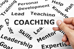 Coaching concept stock image