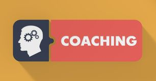 Coaching Concept in Flat Design. Royalty Free Stock Photo
