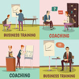 Coaching Concept Icons Set Stock Image