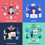 Coaching Concept Icons Set Stock Photos