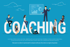 Coaching concept illustration Stock Photo