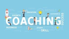 Coaching concept illustration. Royalty Free Stock Photo