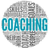 Coaching concept in tag cloud royalty free stock photos