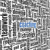 Coaching concept in tag cloud royalty free illustration