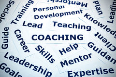 Coaching concept vignette Royalty Free Stock Photography