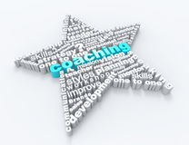 Coaching 3d word concept. With star Stock Photography