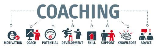 Coaching_GB de bannière illustration libre de droits