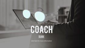Coaching Guru Guide Teach Coaching Concept Royalty Free Stock Images