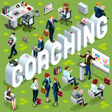 Coaching Isometric People Icon 3D Set Vector Illustration Stock Photos