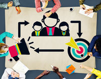 Coaching Leadership Mentoring Target Concept Stock Photo