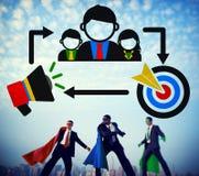 Coaching Leadership Mentoring Target Concept Stock Image