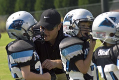 Coaching Little League Football Stock Photos