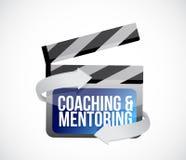 coaching and mentoring clip sign concept illustration design Stock Photos