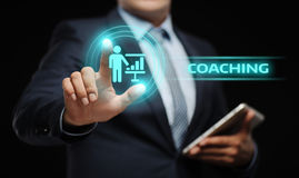 Coaching Mentoring Education Business Training Development E-learning Concept.  Stock Images