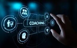 Coaching Mentoring Education Business Training Development E-learning Concept.  stock photo