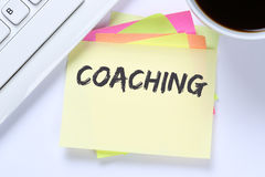 Coaching and mentoring education training workshop learning semi Royalty Free Stock Images