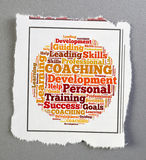 Coaching. Notice personal coaching word cloud stock images