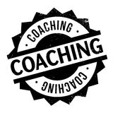 Coaching rubber stamp. Coaching stamp. Grunge design with dust scratches. Effects can be easily removed for a clean, crisp look. Color is easily changed Stock Photos