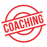 Coaching rubber stamp. Coaching stamp. Grunge design with dust scratches. Effects can be easily removed for a clean, crisp look. Color is easily changed Royalty Free Stock Photo