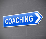 Coaching sign concept. Royalty Free Stock Photo