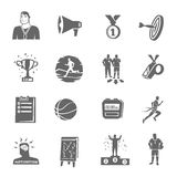 Coaching And Sport Icons Set Royalty Free Stock Photos
