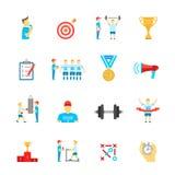 Coaching sport icons set Stock Photos