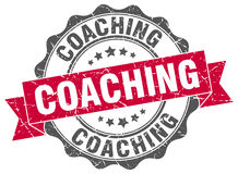 Coaching stamp Royalty Free Stock Photo