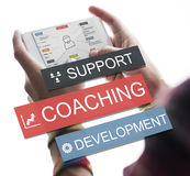 Coaching Support Development Guide Leader Concept Royalty Free Stock Images